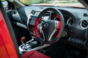 EV-R Zeus steering wheel and dashboard